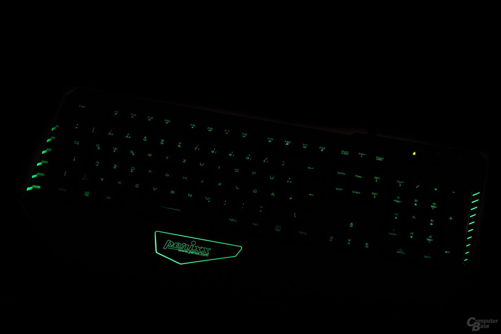 Am hellsten strahlen die grünen LEDs