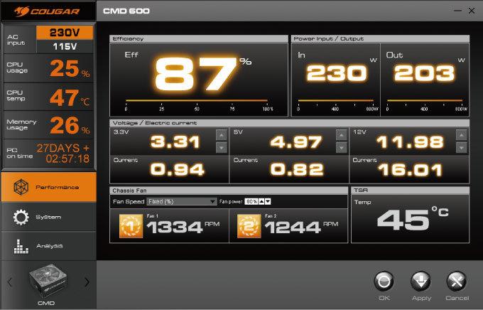 Cougar CMD 500 – Software