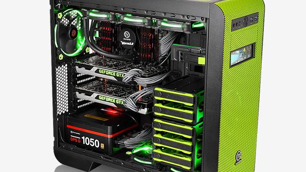 """Thermaltake Core V51: """"Riing Edition"""" mit besseren Lüftern und grüner Farbe"""