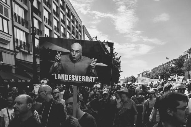 Impressionen von Demonstration für Netzpolitik.org