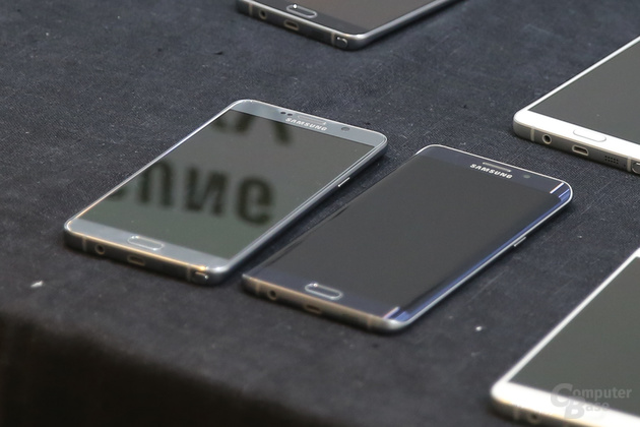 Galaxy Note 5 neben Galaxy S6 edge+