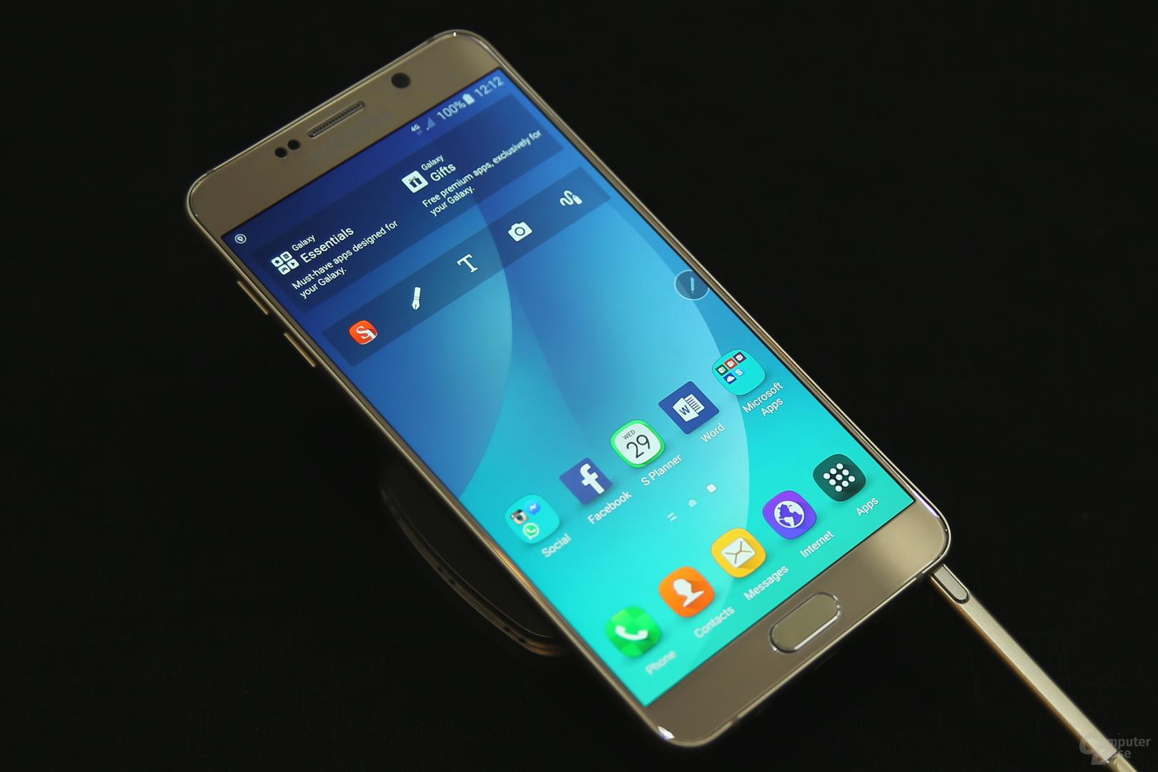 Die Display-Qualität des Galaxy Note 5 liegt auf hohem Niveau