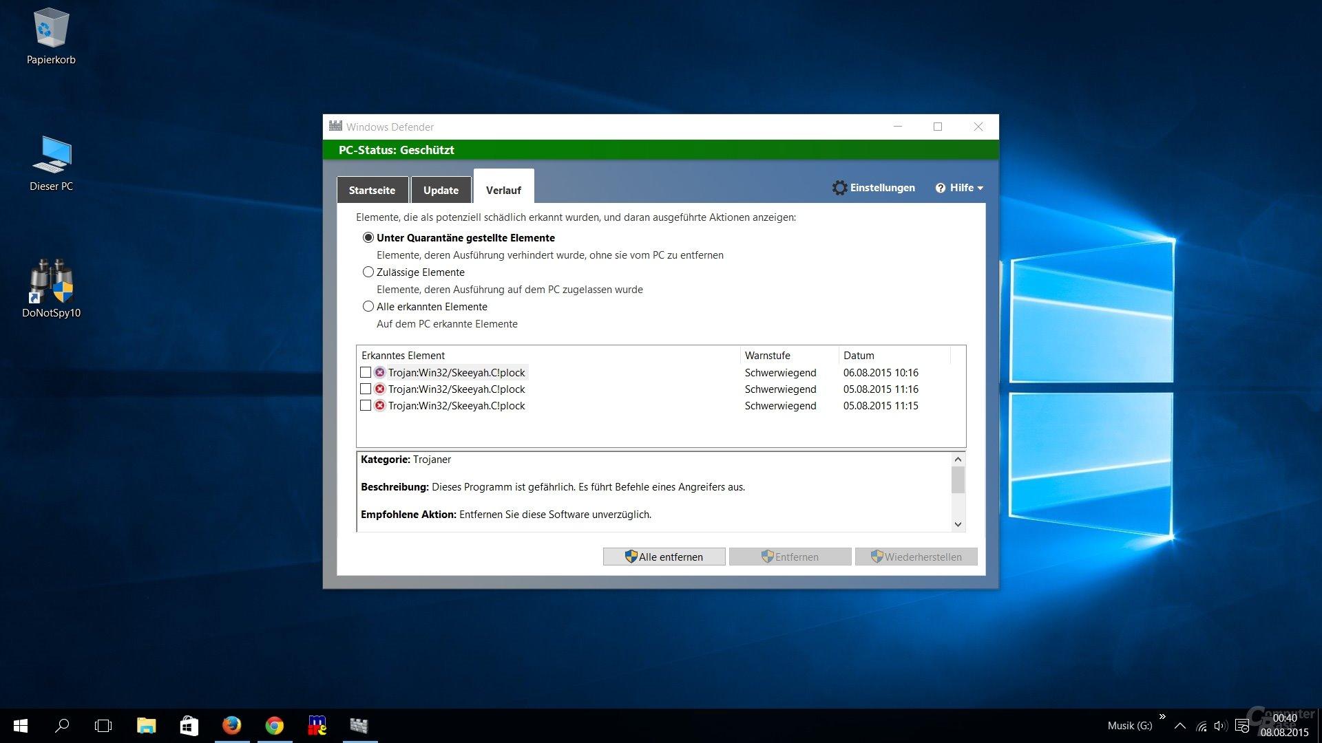 DoNotSpy-Tool für Windows 10 als Trojaner eingestuft