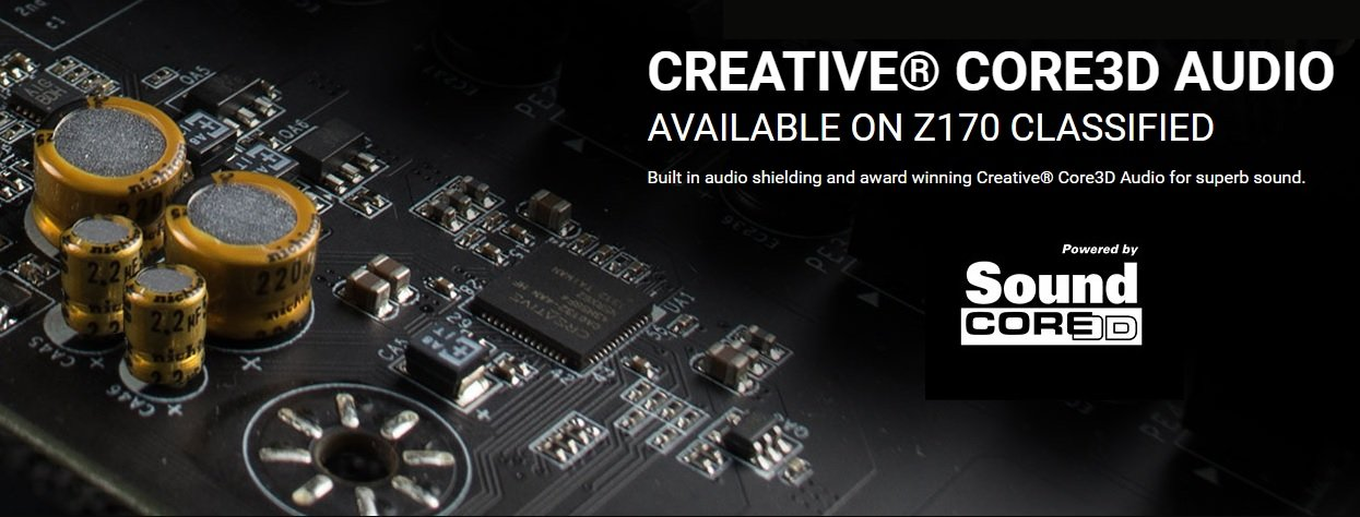 Creative Core3D Audiolösung bei EVGAs Z170 Mainboards