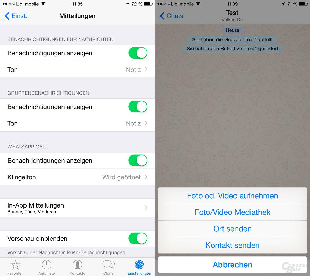 WhatsApp mit neuen Einstellungen