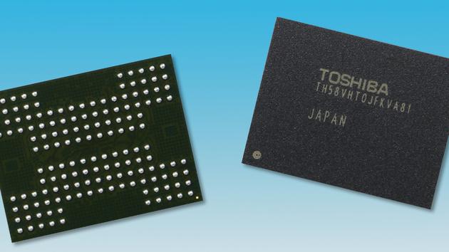 Speichertechnologie: Toshiba stapelt 16 NAND-Dies mit TSV übereinander