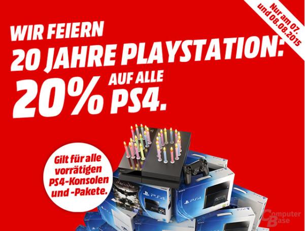 MediaMarkt gewährt 20% Rabatt auf PS4