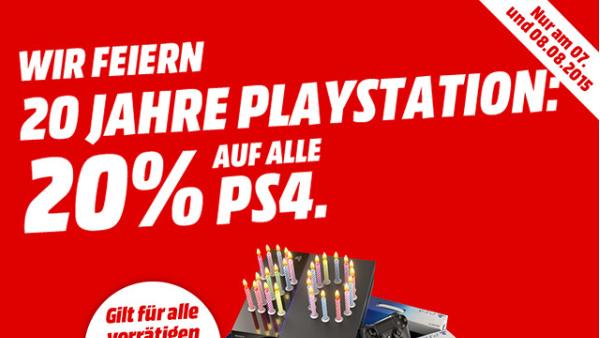 PlayStation 4: 20 Prozent Rabatt auf Konsole und Bundles