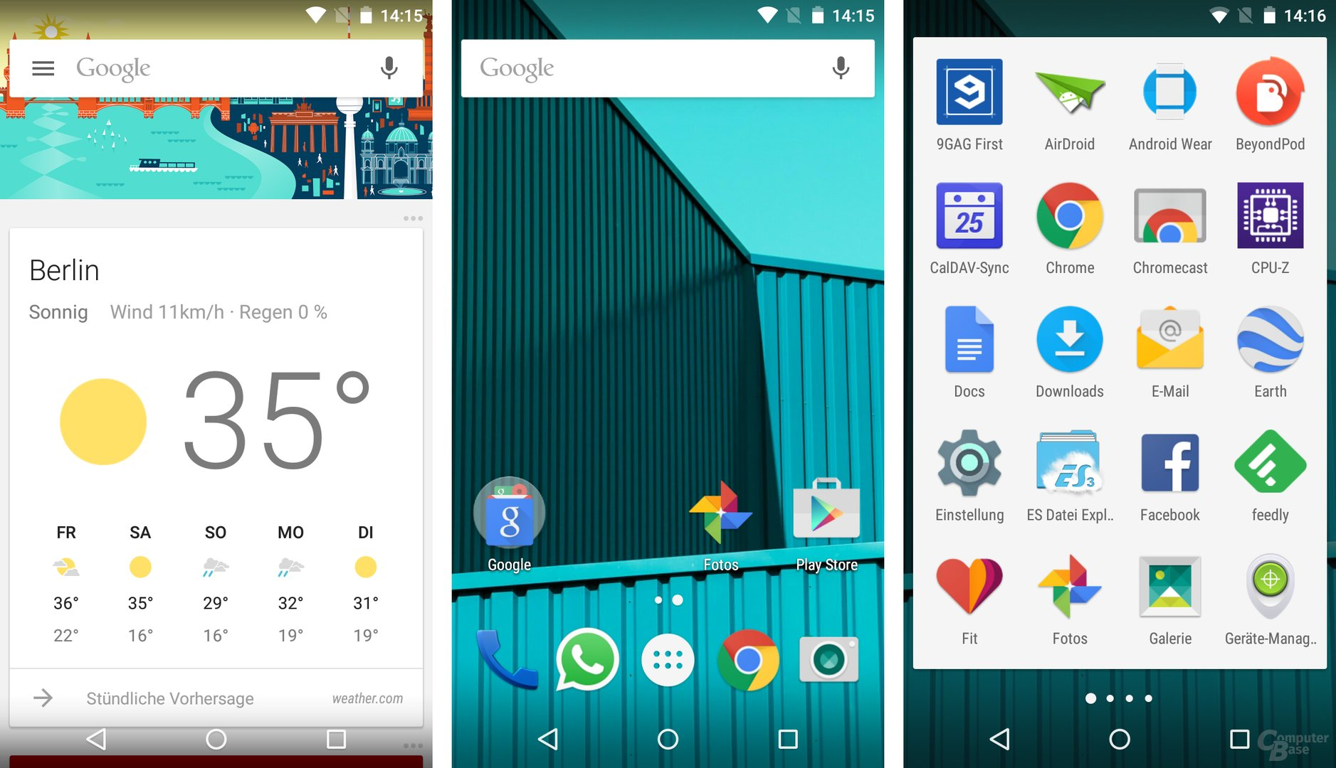 Unverbasteltes Android 5.1.1