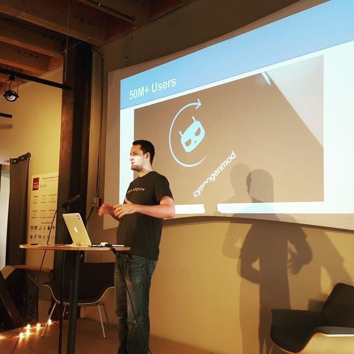 Adnan Begovic von CyanogenMod auf der Seattle Code Rush