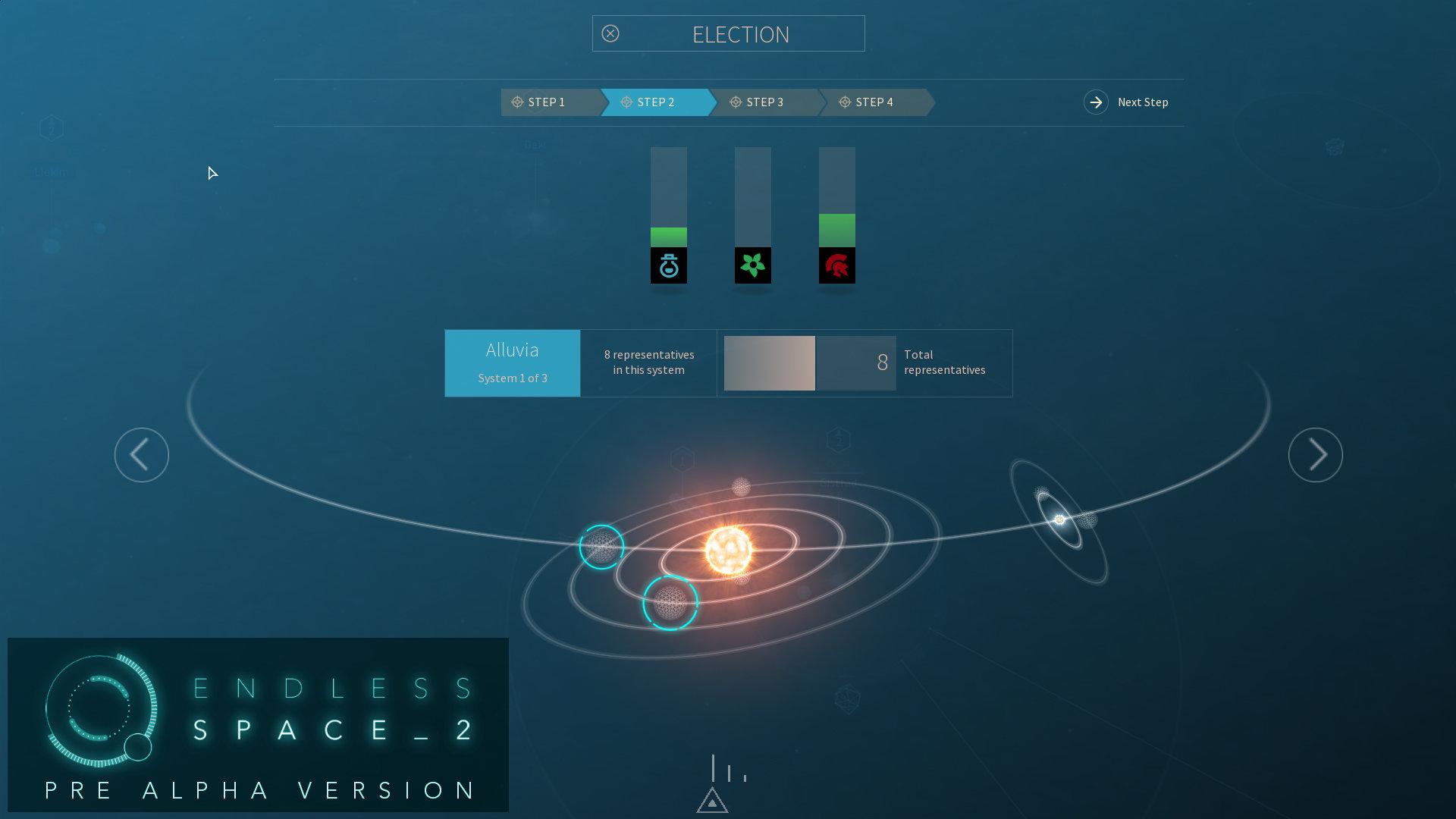 Endless Space 2 - Bevölkerung: Wahlvorgang