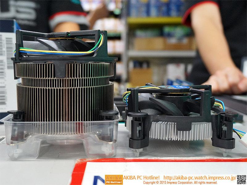 Intel Kühler für Skylake im Vergleich zum Boxed-Kühler