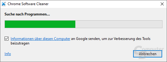 Chrome Cleanup Tool –  Suche