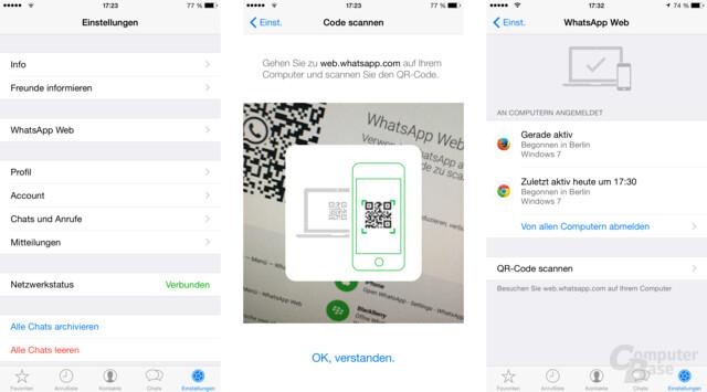 WhatsApp Web für iOS