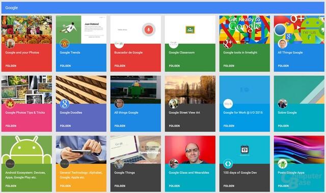 Neue Suche nach Collections unter Google+