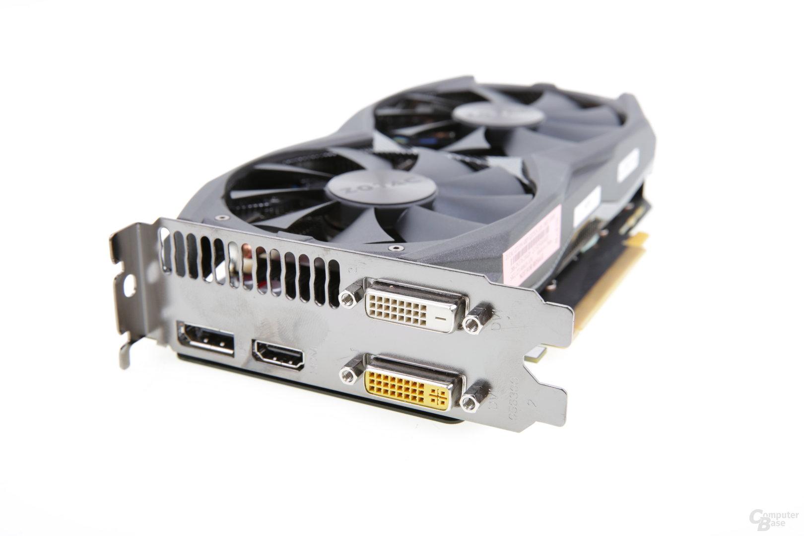 Zotac GeForce GTX 950 AMP! - Monitoranschlüsse