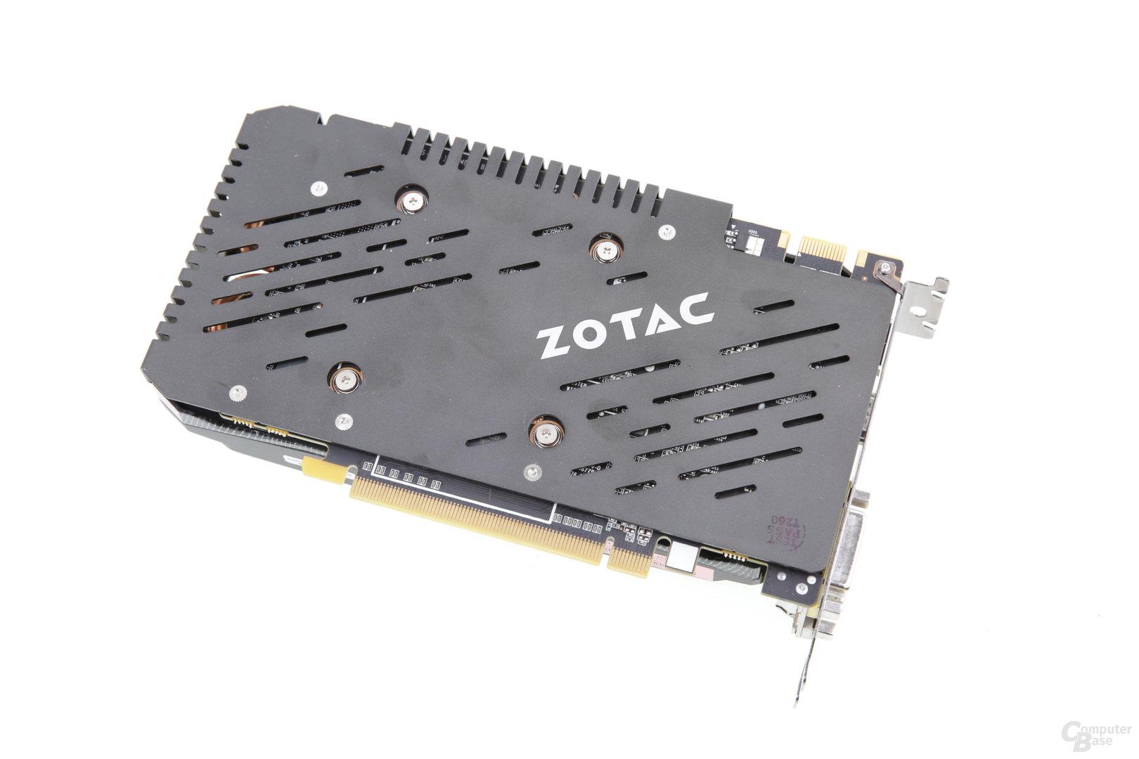 Zotac GeForce GTX 950 AMP! - Rückseite