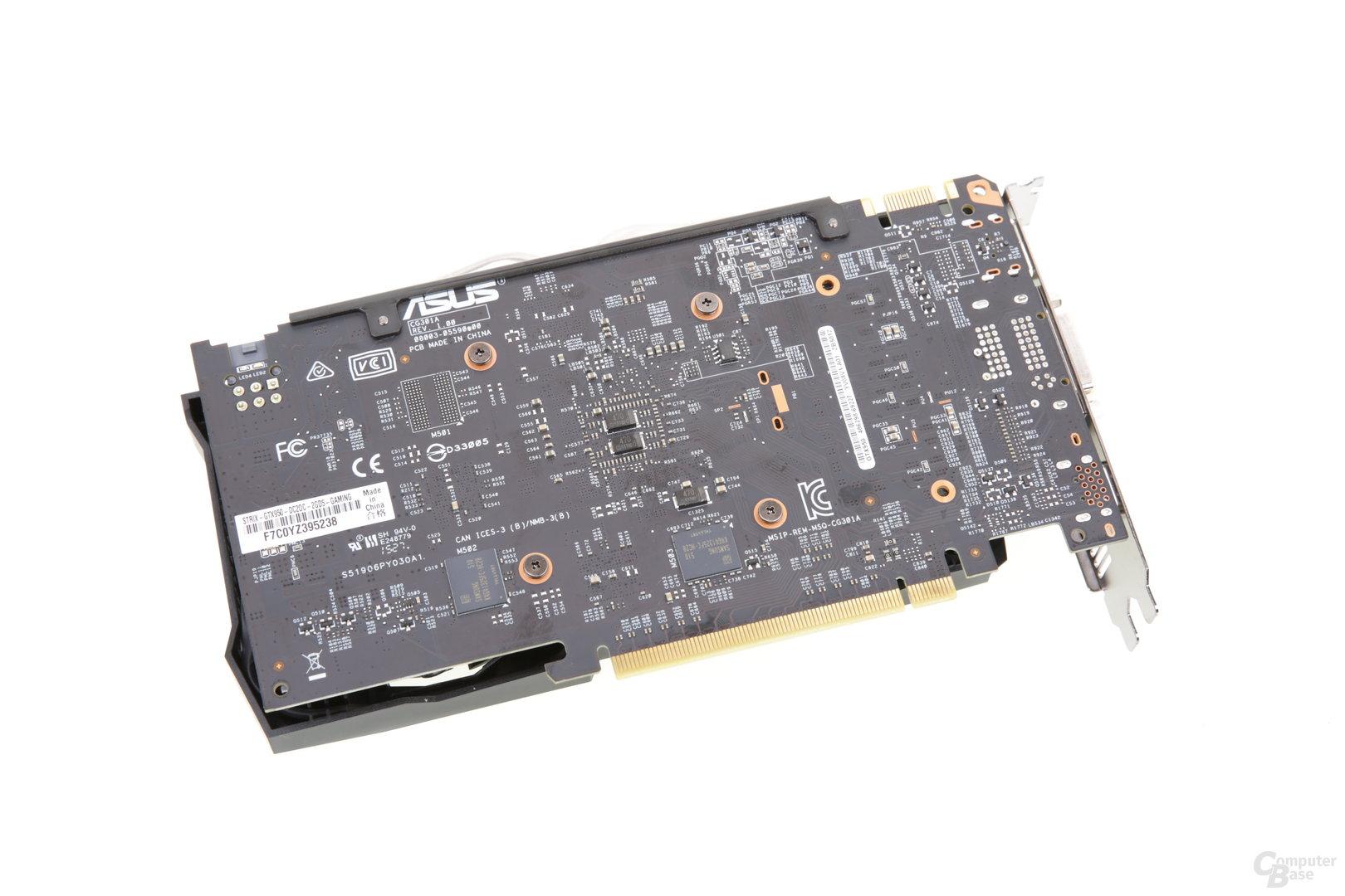 Asus GeForce GTX 950 Strix - Rückseite