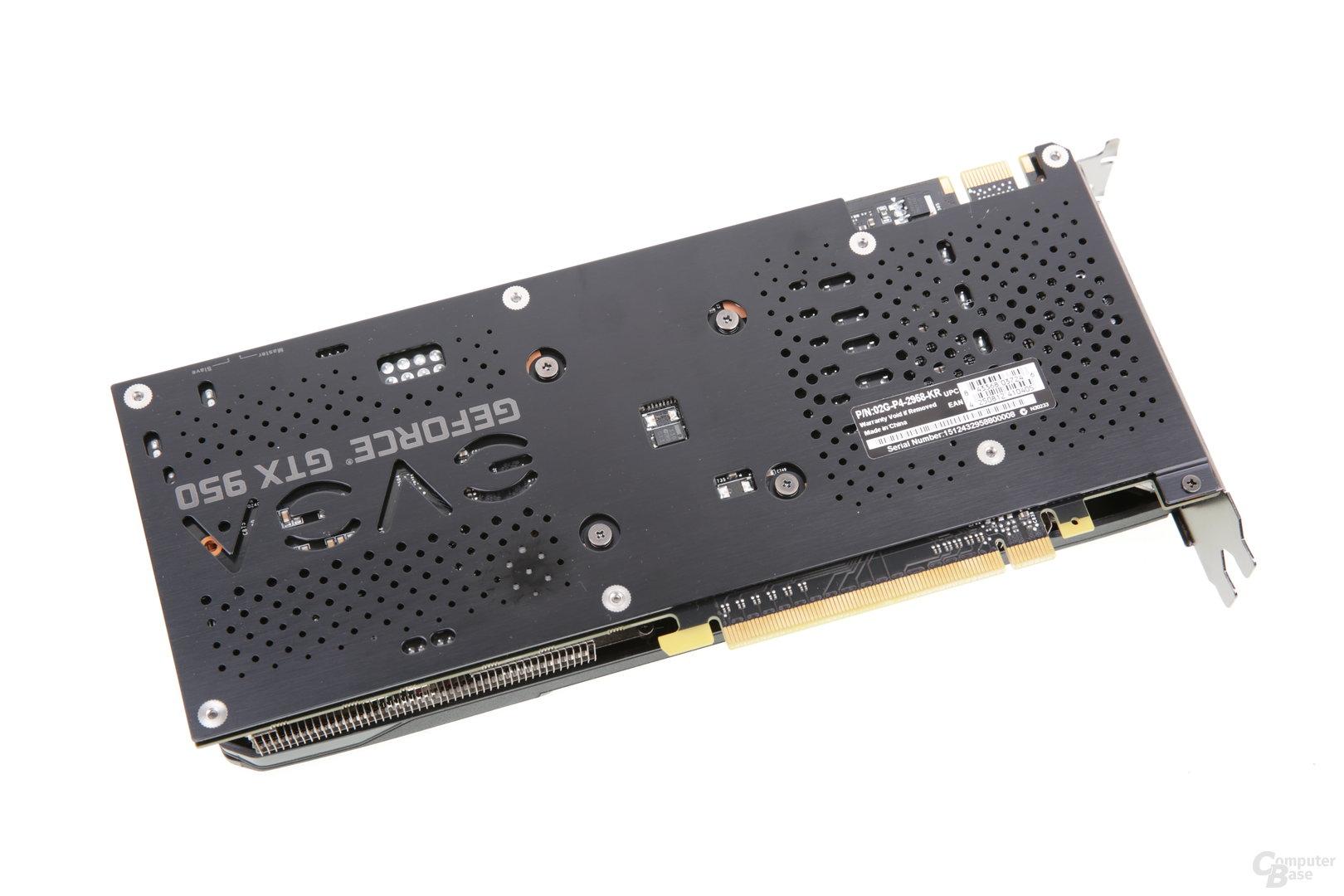 EVGA GeForce GTX 950 FTW - Rückseite