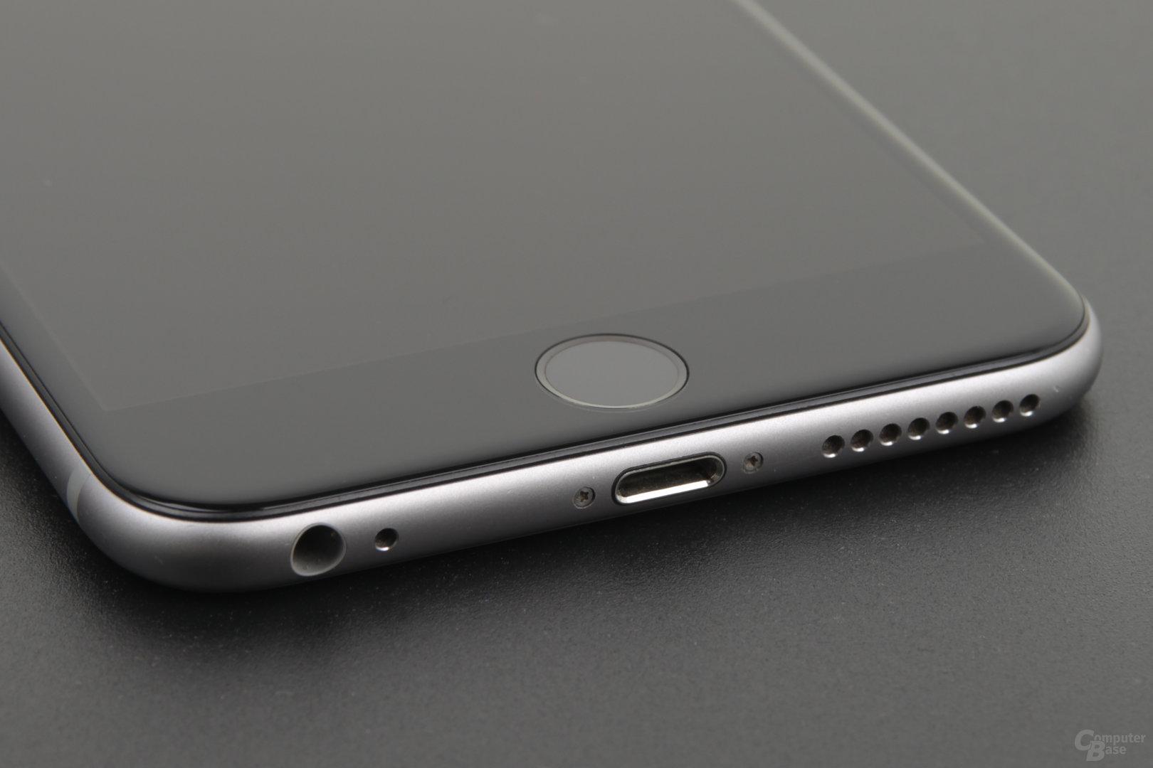 Das ist gutes Design: Home-Button mit Touch ID und Lightning-Port