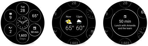 Interaktive Watch Faces für Android Wear
