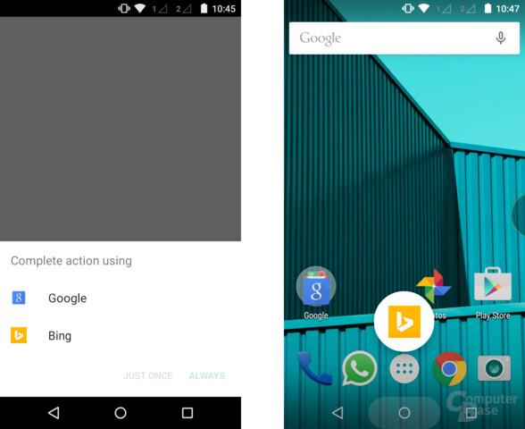 Bing ersetzt Google Now