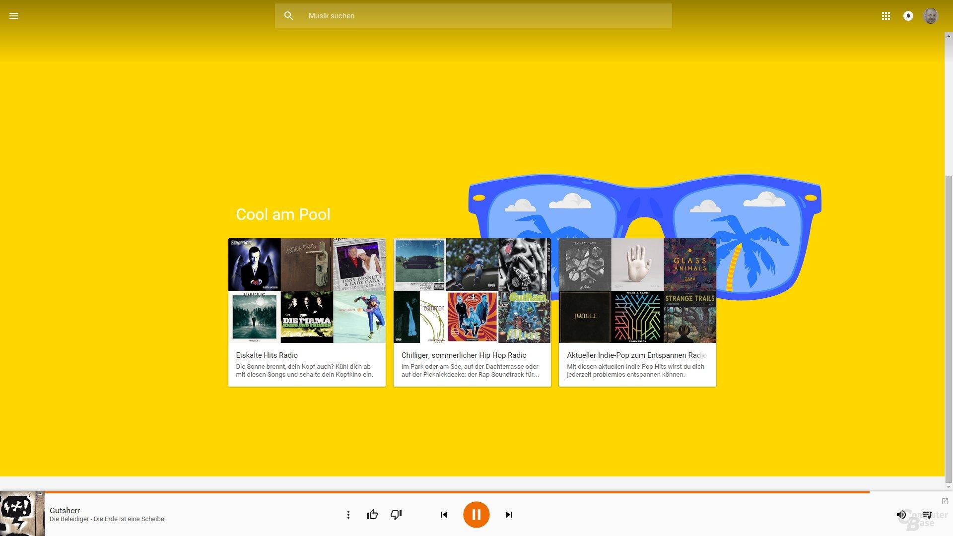 Google Play Musik im Web