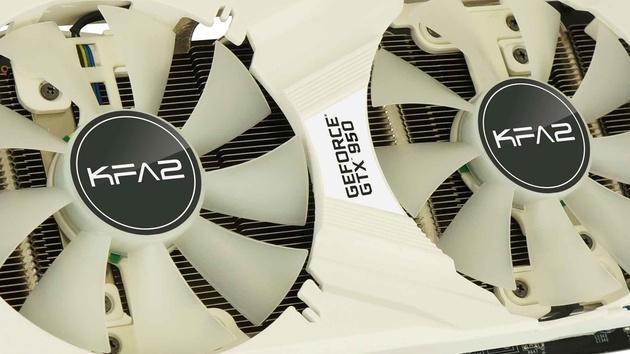GeForce GTX 950: KFA² hüllt Mittelklasse-GPU in Weiß