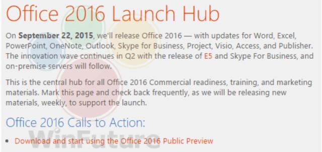 Internes Microsoft-Dokument verrät angeblichen Startermin von Office 2016