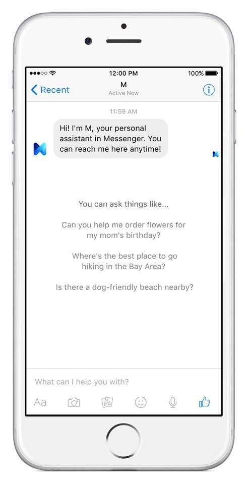 M von Facebook hilft direkt im Messenger