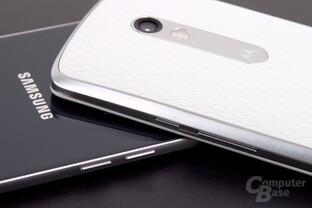 Samsung nutzt beide Seiten für Tasten