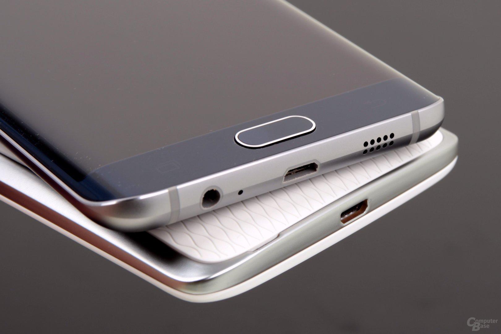 Geladen werden beide Smartphones über Micro-USB