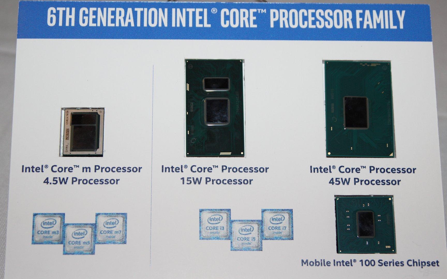 Intels Skylake-CPUs für Tablets/Notebooks