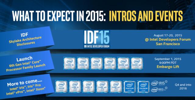 Fahrplan für Intels Skylake-Prozessoren
