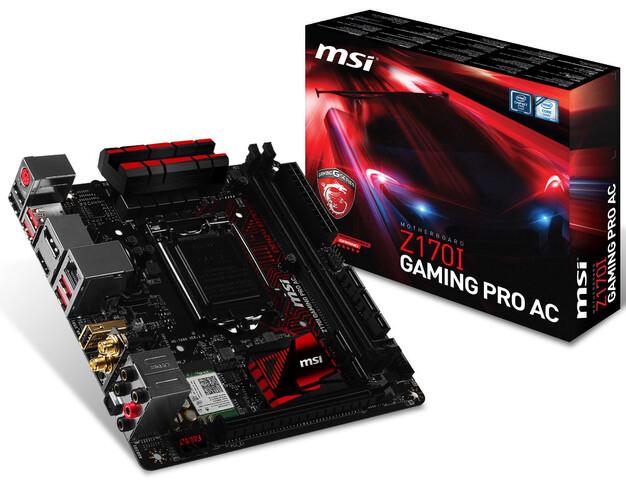 Gaming-Mainboard im Mini-ITX-Format auch bei MSI mit Intel-LAN