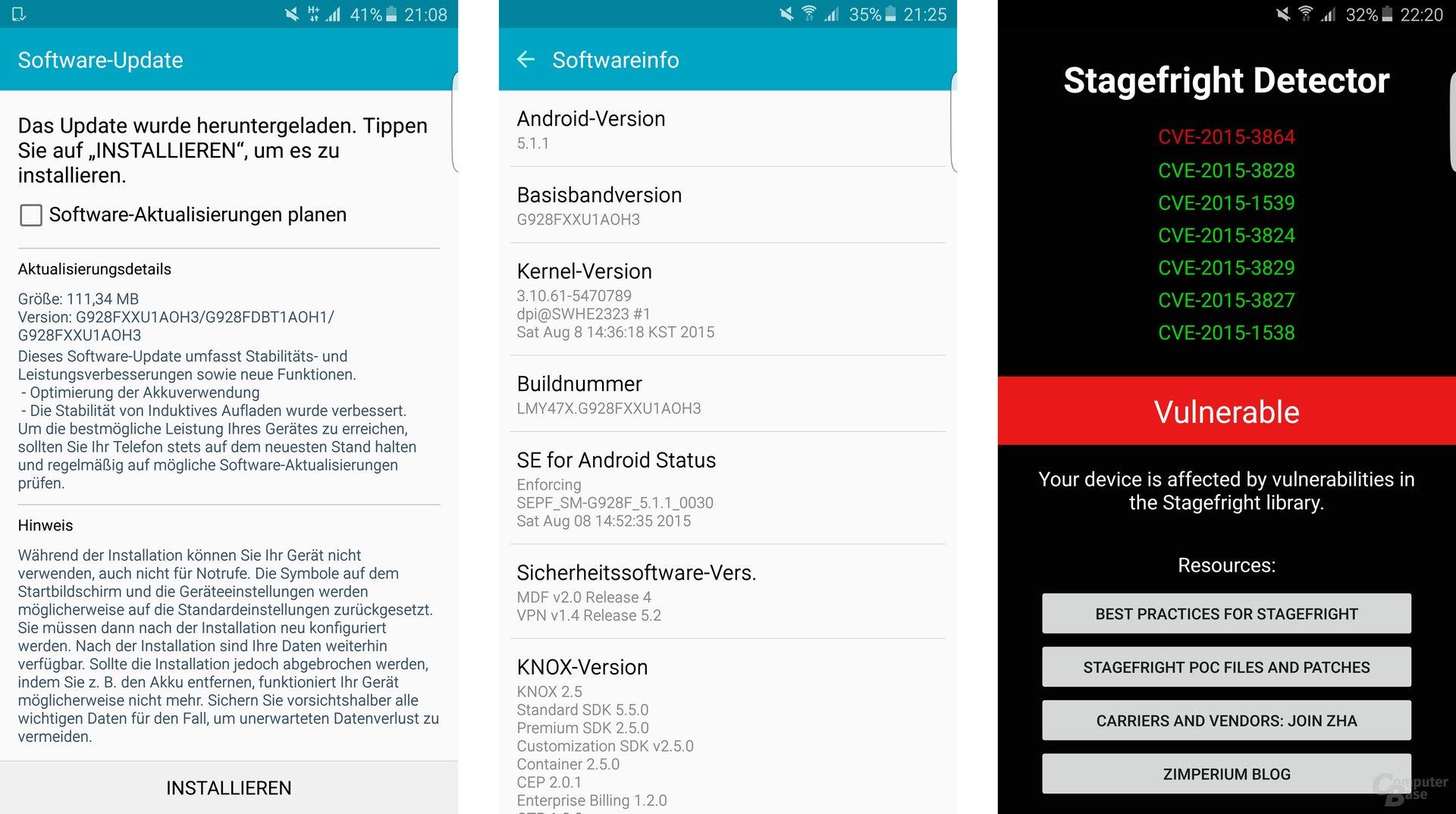 Update für das Samsung Galaxy S6 edge+