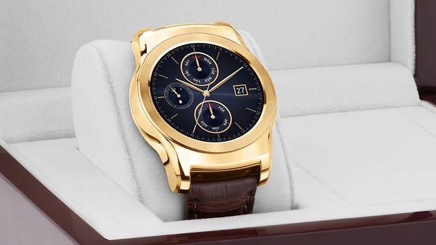 LG Watch Urbane Luxe: Smartwatch aus Gold und Alligatorleder für 1.200 US-Dollar