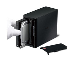 Buffalo LinkStation 520D – zwei Festplatteneinschübe für bis zu 8 Terabyte