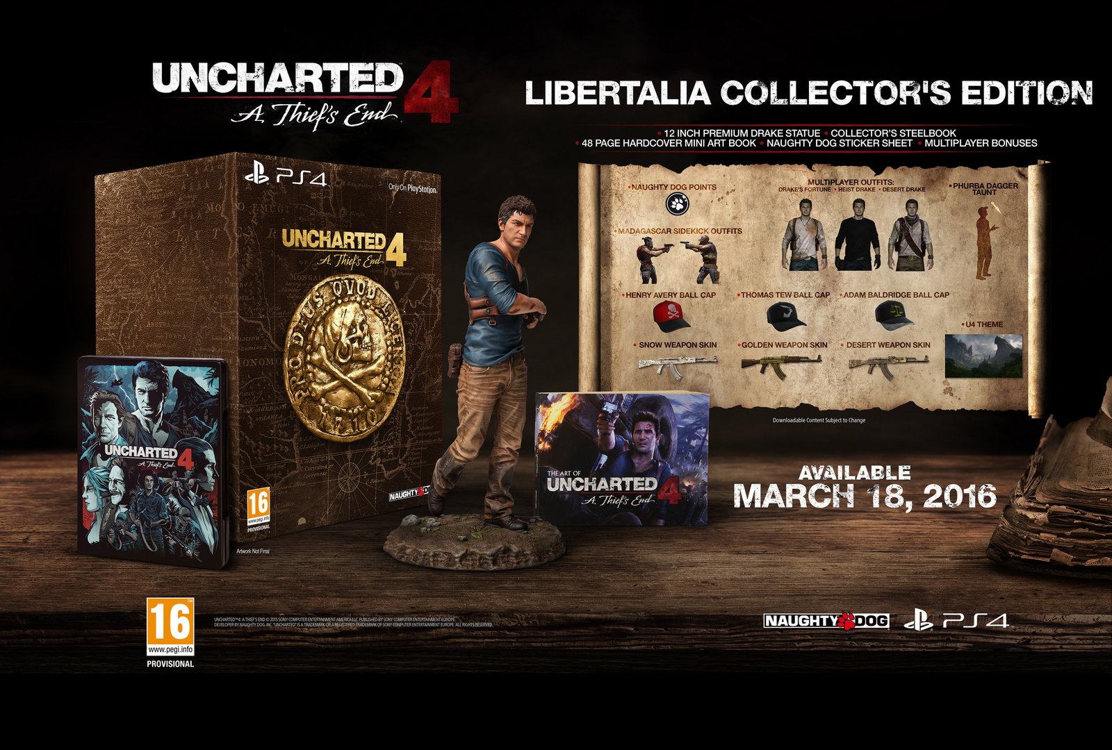 Uncharted 4: A Thief's End – Libertalia Collector's Edition