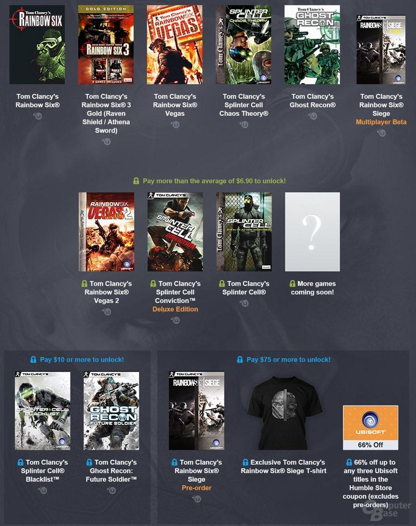 """Das aktuelle Humble Bundle umfasst zahlreiche """"Tom Clancy""""-Spiele"""
