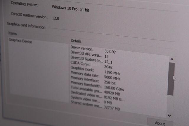 Spezifikationen der unbekannten Nvidia-Grafikkarte