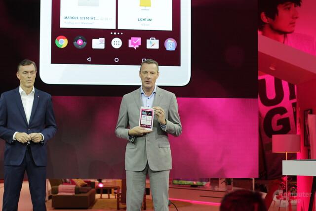 Telekom CEO Niek Jan van Damme mit qdem Puls