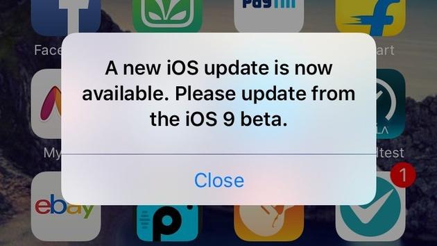 iOS 9 Public Beta: Hinweis auf Update, das es nicht gibt