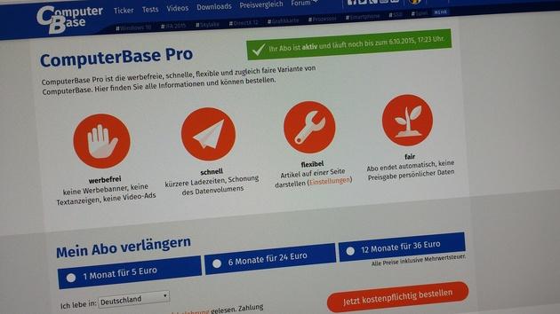 ComputerBase Pro: Werbefreies Surfen auf ComputerBase