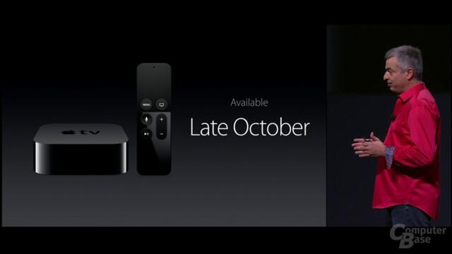 Apple TV mit Apps und Siri