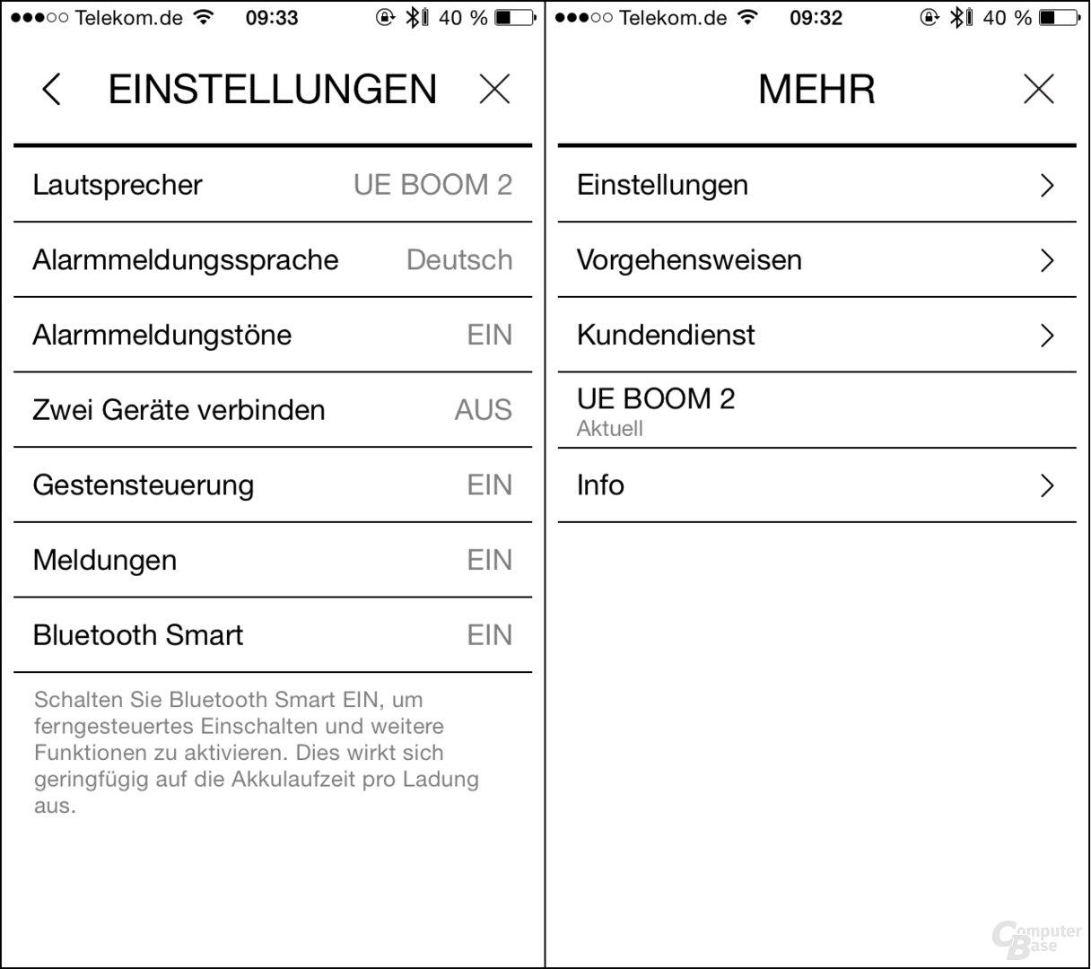 UE Boom 2 – iPhone-App