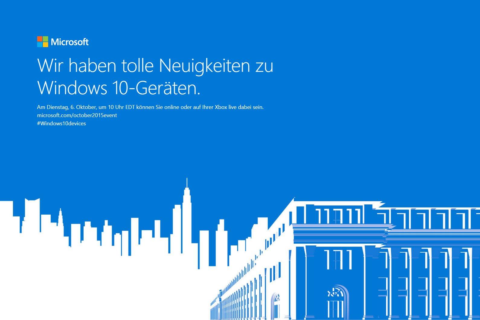 Event für neue Windows-10-Hardware
