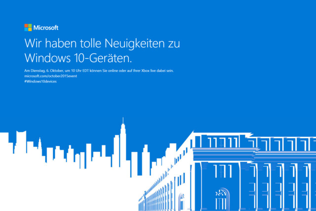 Event für neue Windows-10-Hardware