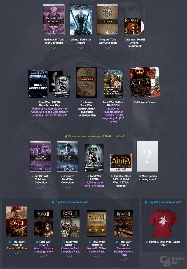 Das Humble Total War Bundle richtet sich an Fans der Serie