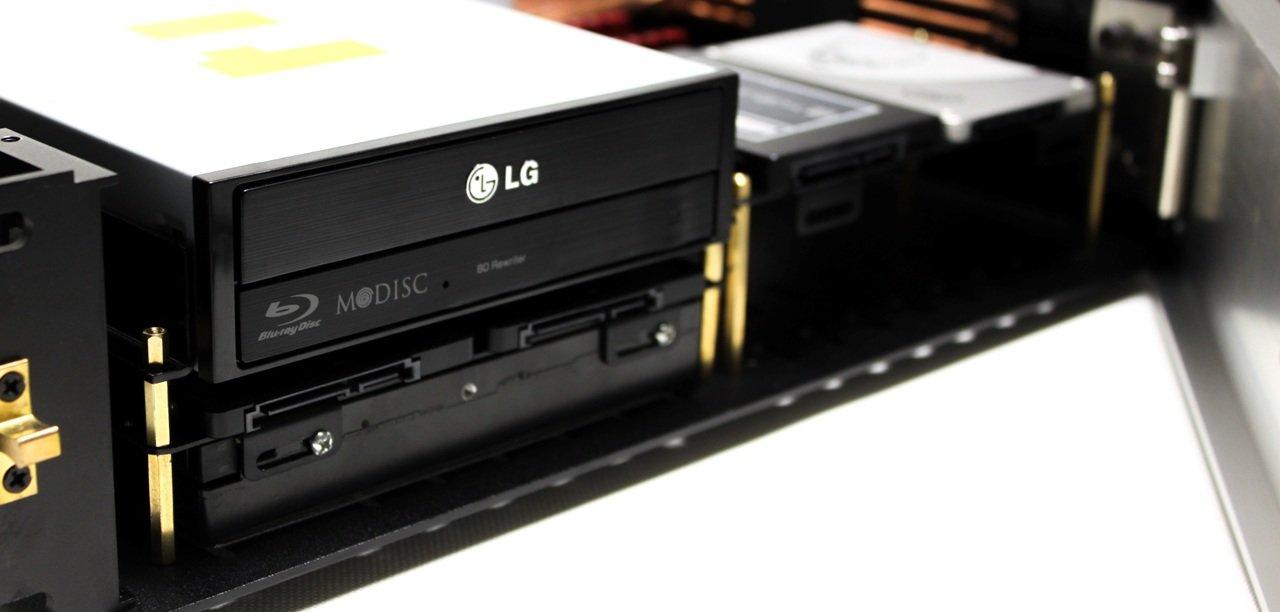 Optisches Laufwerk oder HDD-Hot-Swap hinter Blende